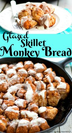 Four Kitchen Decorating Suggestions Which Can Be Cheap And Simple To Carry Out Glazed Skillet Monkey Bread Cast Iron Skillet Cooking, Skillet Bread, Iron Skillet Recipes, Cast Iron Recipes, Skillet Meals, Skillet Food, Muffins, Croissants, Scones
