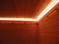 Custom sauna lighting. Sauna in Delaware.
