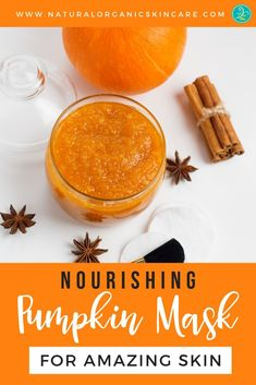 Nourish your skin this fall with our Pumpkin Spice Mask Recipe! Add Vanilla or C… Nourish your skin this fall with our Pumpkin Spice Mask Recipe! Add Vanilla or Coffee to perk up the recipe and create your own Vanilla Pumpkin Spice Latte Mask. Homemade Skin Care, Diy Skin Care, Herbal Remedies, Natural Remedies, Pumpkin Mask, Diy Pumpkin, Natural Hair Mask, Natural Skin, Natural Beauty Recipes