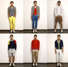 Bold colour for Preppy Men. I adore a guy who can pull off this look.