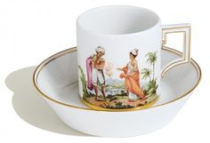 Cup and saucer, African Fascination, Man and woman form Algier, Limited Masterpieces, H 6,5 cm