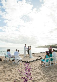 This simple, sweet beachfront @Four Seasons Resorts Lanai ceremony stole our hearts.