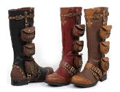 Ladies Steampunk Gypsy Boho Boots 6 -11