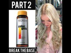 Break the Base with Redken Color Gels  Part 2  - YouTube Redken Color Formulas, Redken Color Gels, Ombre Hair, Blonde Hair, Hair Inspo, Hair Inspiration, Beauty Bar, Hair Beauty, Cabello Hair