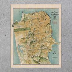 San Francisco Chevalier Map 1915