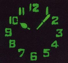 Radium Watch Dials Luminescent Glowing! Pictures. Alan's Vintage Watches