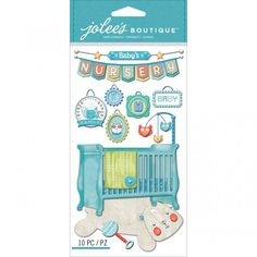 Jolee's Boutique Dimensional Stickers - Baby Boy Nursery