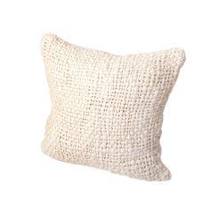 Discover the Pure Lana Alma Merino Cushion - Natural Ivory - 60x60cm at Amara
