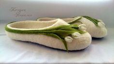 Тапочки ручной работы, wool slippers домашние тапочки, Тапочки ручной работы, тапочки из шерсти.