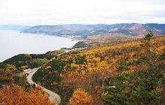 Cape Breton fall colours halfway down MacKenzie Mountain between Cheticamp and Pleasant Bay, NS