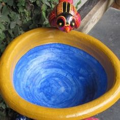 Our gorgeous terracotta hand painted bird feeder Garden Accessories, Garden Hose, Bird Feeders, Terracotta, Yard, Pottery, Hand Painted, Outdoor, Ceramica