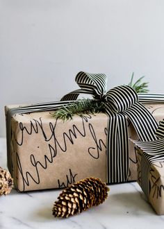 That's a Wrap! 10 Chic + Cozy Christmas Gift Wrapping Ideas - The Sweetest Occasion - - Check out modern and cozy Christmas gift wrapping ideas plus hundreds of Christmas party ideas, Christmas cocktail recipes, Christmas cookie recipes + more! Handmade Christmas Gifts, Christmas Gift Wrapping, Cozy Christmas, Holiday Gifts, White Christmas, Rustic Christmas, Simple Christmas, Christmas Gift Ideas, Christmas Gift Inspiration