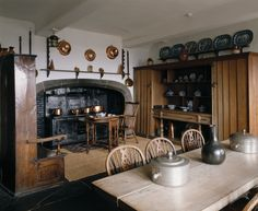 The Kitchen, showing the coal-fired range at Lindisfarne Castle, Northumberland  | National Trust Images