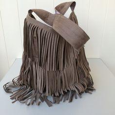 Handbag Faux Suede Hobo Bag Vintage Style Tote Pink Toile Shoulder Bag Handmade Made in Australia Vegan Purse Gift For Her Fringe Tassel (65.00 AUD) by VelvetBrowne