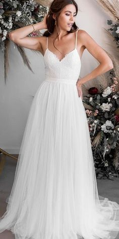 27 Bridal Inspiration: Country Style Wedding Dresses ❤ country style wedding dresses a line with straps simple rustic wearyourlovexo dresses simple country 27 Bridal Inspiration: Country Style Wedding Dresses Country Style Wedding Dresses, Rustic Wedding Dresses, Wedding Dress Styles, Dream Wedding Dresses, Bridal Dresses, Wedding Bride, Wedding Rustic, Country Weddings, Country Dresses