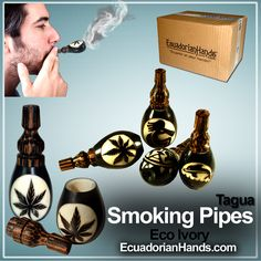 #SmokingPipes are elegant pieces made in #Tagua. Ecuadorian artisans use #EcoIvory, a seed that comes from a palm tree. Do not miss this opportunity to buy 250 craft pipes. #WholeSalePipes BUY NOW>> https://www.ecuadorianhands.com/en/250-handmade-smoking-pipes-eco-ivory-tagua-turbine-model.html