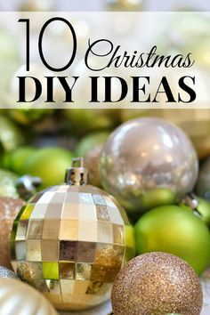 10 DIY Christmas ideas you can make for less than $10! These are great!