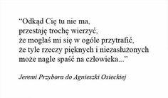Jeremi Przybora do Agnieszki <3