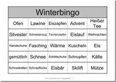 Themenbingo Winter