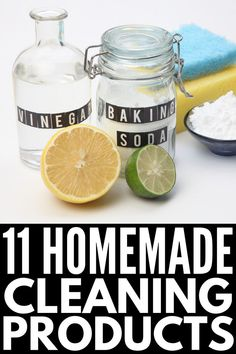 Natural living meets budget-friendly cleaning hacks with this collection of 11 homemade household products that cut through grease and make your home shine! Diy Home Cleaning, Homemade Cleaning Products, Cleaning Recipes, Natural Cleaning Products, Cleaning Hacks, Household Products, Household Cleaners, Green Cleaning, Natural Products