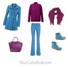 """""""How To Wear Bright Plum with Chinese Blue"""" by jen-thoden ❤ liked on Polyvore featuring STELLA McCARTNEY, Samsøe & Samsøe, Vera Bradley and Chinese Laundry"""