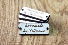Personalized Tags, Custom Tags, Wooden Tags, Engraved tags, Knitting Buttons, Craft Buttons, Business Tags, Wood Engraved Tags, Laser Cut by MemorableLand on Etsy