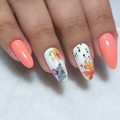 Love the accent nails! – Love the accent nails! – … Love the accent nails! – Love the accent nails! Accent Nail Designs, Pretty Nail Designs, Nail Art Designs, Classy Nails, Cute Nails, Pretty Nails, Autumn Nails, Spring Nails, Summer Nails