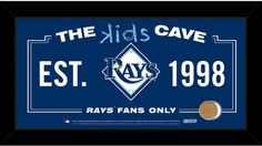 Tampa Bay Rays 10x20 Kids Cave Sign w/ Game Used Dirt from Tropicana Field