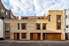 Bennetts Associates create light filled London mews housing with a a context-sensitive private residential development, located at Rodmarton Street Brick Architecture, London Architecture, Residential Architecture, Drawing Architecture, Residential Complex, Architecture Portfolio, Mews House, Brick Facade, Brick Masonry