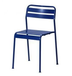 Reasonably priced, outdoor, stylish & stackable: Roxö Chair from Ikea.