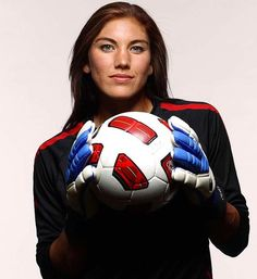 Hope Solo, keeper for the US Women's National Soccer Team, was a Girl Scout.