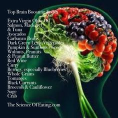 The Science Of Eating - You can protect your brain against degeneration, nourish your neurons and even boost the production of neurotransmitters just by eating more whole foods. You can boost brainpower with the foods you eat, and if you're wondering which foods are best for your brain, there is a list here attached.