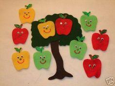 10 Little Apples Flannel Board Story
