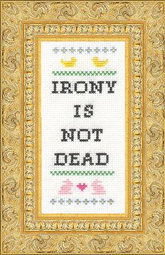 Subversive Cross stitching.