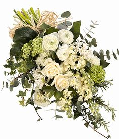 Funeral sympathy flowers delivery Natural Ivory Tied Sheaf - Passion For Flowers Flower Arrangements Delivery, Funeral Flower Arrangements, Condolence Flowers, Sympathy Flowers, Funeral Bouquet, Funeral Flowers, Casket Flowers, Silk Flowers, Cut Flowers