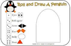 susan akins posted Roll a Penguin Math Game to their -Preschool items- postboard via the Juxtapost bookmarklet. Kindergarten Math, Teaching Math, Elementary Math, Polar Animals, Classroom Freebies, Speech Activities, Family Activities, Winter Fun, Winter Theme