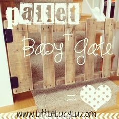 Re-purpose those pallets that are destined for the dump. Remember. That used to be a tree.!! pallets into furniture, garden beds, you name it. Even Pallet Baby Gate!