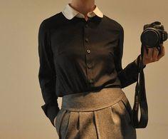 skirt, weight, shirts, sleev shirt, silk satin, peter pan collars, blous, sleeves, black