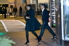 Image detail for -President-elect Barack Obama and Michelle Obama leave Spiaggia ...