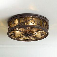 """Casa Seville 12"""" Wide Indoor -Outdoor Ceiling Light Fixture"""