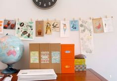 hanging art with clothespins - Google Search