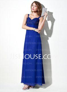 Empire Sweetheart Floor-Length Chiffon Bridesmaid Dress With Lace Beading (007020653) - JJsHouse