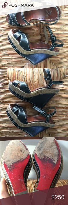 Christian louboutin wedges As seen in pretty good shape lots lots of life left Christian Louboutin Shoes