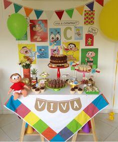 Mini table fofa e colorida da Turma da Monica! Por @milfolhas_festas 💛 #kikidsparty . . . #party #happy #love #family #birthday #fun…
