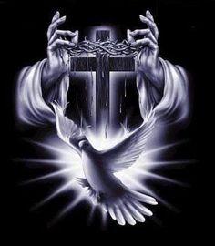 Cross Dove Hands Image