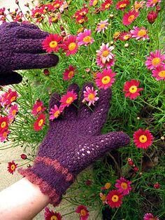 knit lace gloves