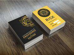 Tattoo Artist Business Card PSD Template | Artist business cards