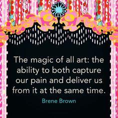 "From Brene Brown's new book, ""Braving The Wilderness"". Art from ""The Artist""card from Sakki-Sakki Tarot."