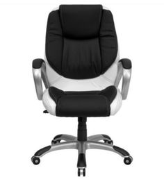 Contemporary Executive Chair Double Padded Seat Nylon Base Home Office Furniture
