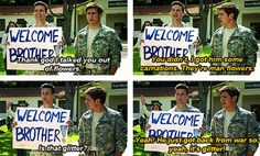 """Enlisted """"He just got back from the war, so yeah it's glitter!"""""""
